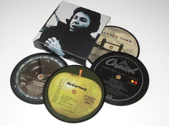 PAUL McCARTNEY Coasters vinyl record label coaster set