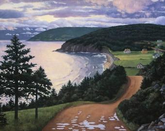 "Dawn, Cape Breton, 7.5"" H x 10"" W, Offset Print by Paul Hannon, FREE SHIPPING Canada & US"