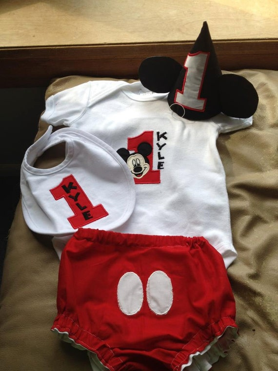 Items Similar To Mickey Mouse 1st Birthday Outfit On Etsy