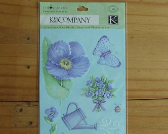 K & Company Embossed Garden Pastel Stickers.