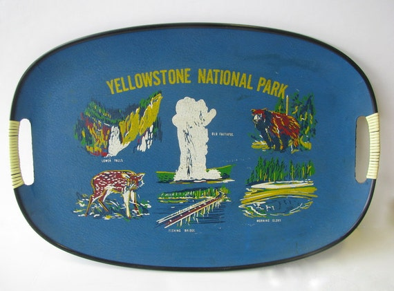 Yellow stone National park serving tray