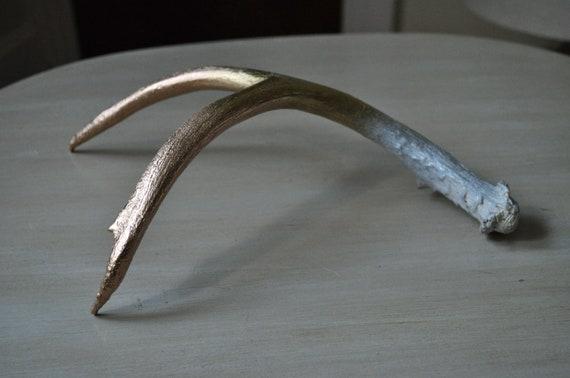 Metallic Ombre Painted Antler - Medium