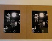 Diptych Fine Art Photography - Brooklyn Watertower, Babies, Dolls, Octopus, Deer, Gnome Graffiti, B&W