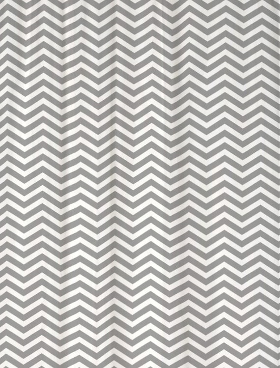Items Similar To Shower Curtain Gray And White Chevron 69x70 100