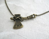 Tomahawk FSU necklace - bronze charm Florida State FSU Seminoles asymmetrical necklace
