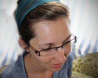 Teal /Green Headband / Headcovering