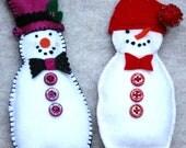Plush Snow Men Ornament