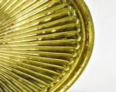 Hollywood Regency Tray Brass Mid Century Serving Piece Sunburst