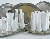 Vintage Milk Glass Vase Collection Wedding Party 30