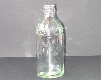 Glass Bottle, Embossed, Vintage Port Wine Bottle