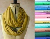 Infinity scarf - Circle scarf, Eternity scarf, Jersey scarf, Tube scarf, Loop scarf, Snood, T-Shirt scarf - Mustard Colour