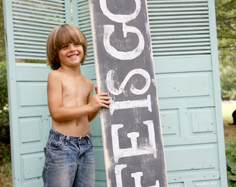 Life Is Good painted wood sign