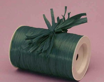 Forest Green Matte Raffia Ribbon - 10 Yards - Many Colors Available