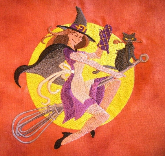 Witchy Brew Reversible Embroidered Apron for Halloween