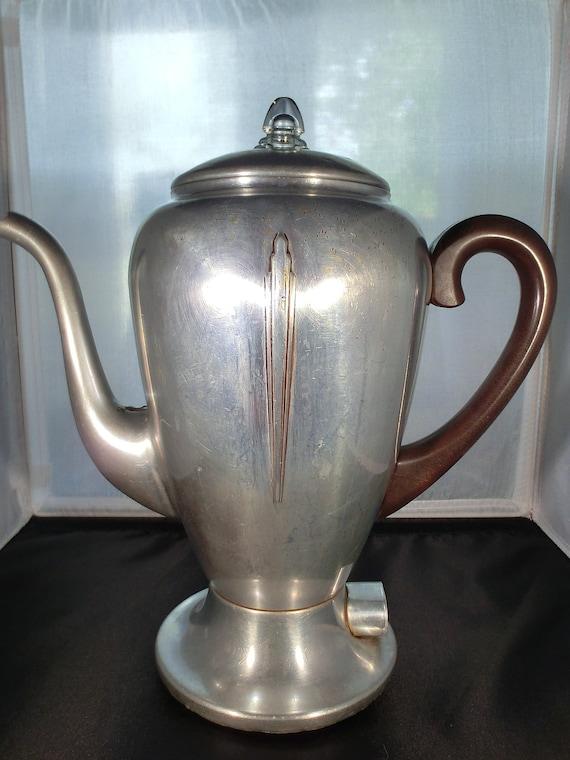 Vintage, Mirro-matic, electric percolator, coffee pot, antique, collectible kitchen decor