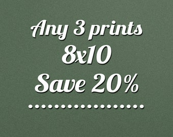 SALE - Fine Art Photography, Save 20% Off On Any Three 8x10 Photos