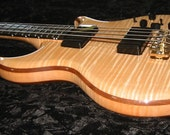 Luxury Electric Bass Handmade With Exotic Wood -- Flame Maple Neuvo Spellbinder by Thomas Lieber