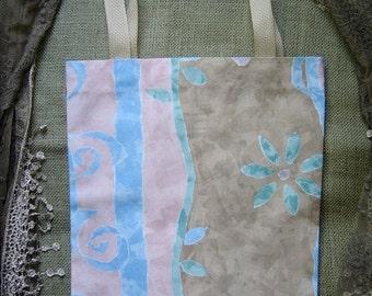 Blue Flower Pastel Tote Bag
