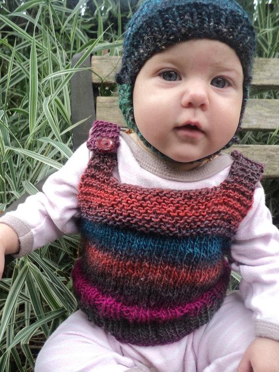Earthy Stripes baby jumper vest