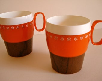 Retro Plastic Coffee Mugs