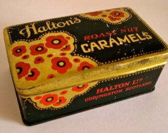 Vintage Halton's Caramels Tin