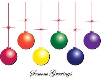Seasons Greetings is the perfect holiday ornament greeting card to send to all your friends and family