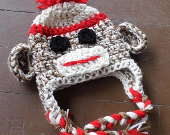 Sock Monkey Hat (made to order)