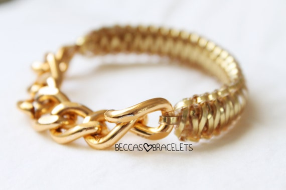 SALE Golden laced chain bracelet