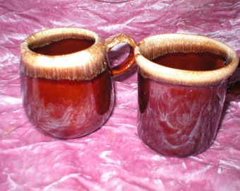 2 Different McCoy Coffee Cups, 1950's