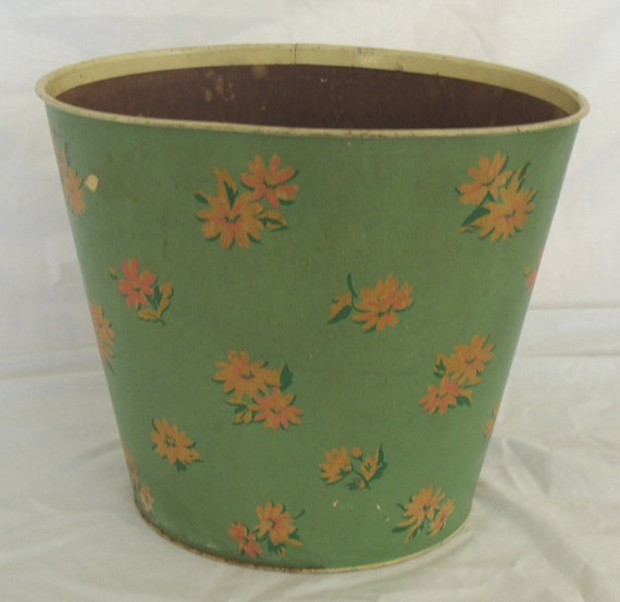 1940s Trash Can Shabby Cottage Chic