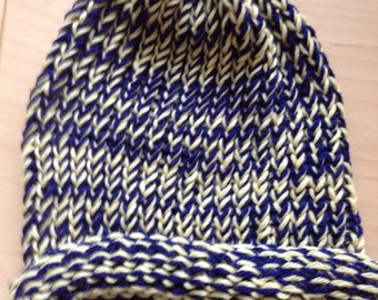 Blue and Yellow Winter Hat
