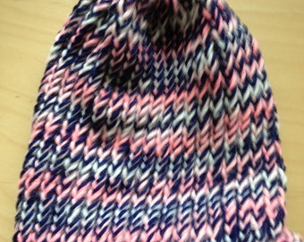 Pink and Multi Color Blue Winter Hat