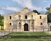 The Alamo, Mission, San Antonio, Texas, Night Photography, State Parks, Historical, 8 x 10 print