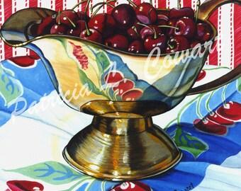 "Art Print - "" Just a Bowl of Cherries """