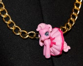 My Little Pony Pink Dress Gold XL Chain Necklace