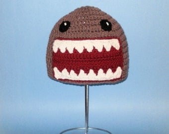 Big Teeth Monster Hat. Beanie. (Any Sizes: Newborn to Adult). Please send the size.