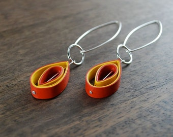 First Anniversary Gift for Her / Lightweight Earrings / Paper Jewelry / 1st Anniversary Gift for Her / Eco Friendly Jewelry - Edison