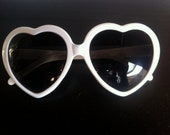 White heart shape sunglasses