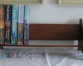 Antique Solid Oak Book Slant Bookcase Shelf