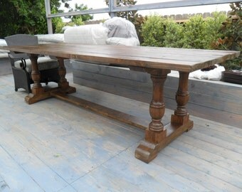 recycled balustrade dining table USA made