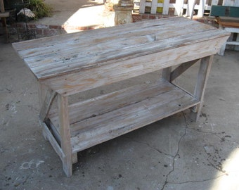 SOFA TABLE recycled wood made in USA
