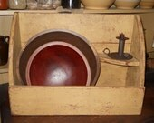 Bowl bin with shelf,wooden,home,kitchen,decor