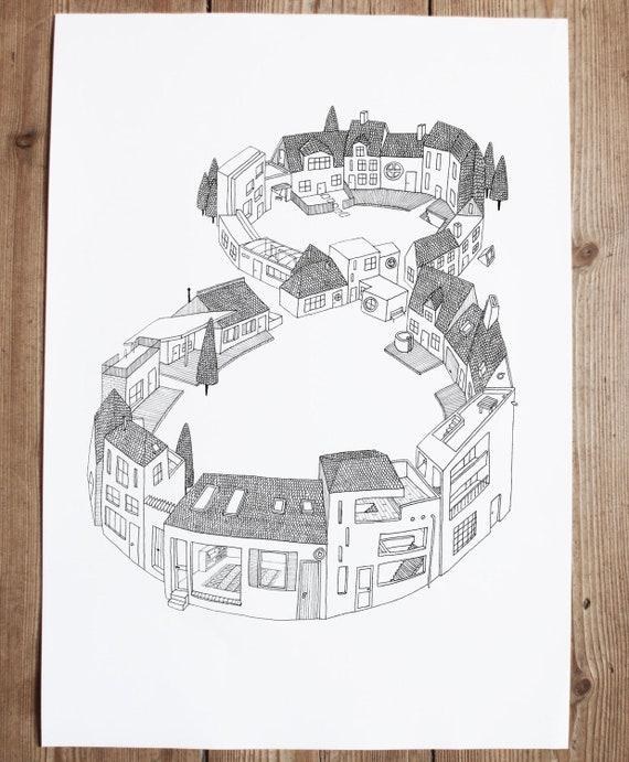 Town 8 - print a3