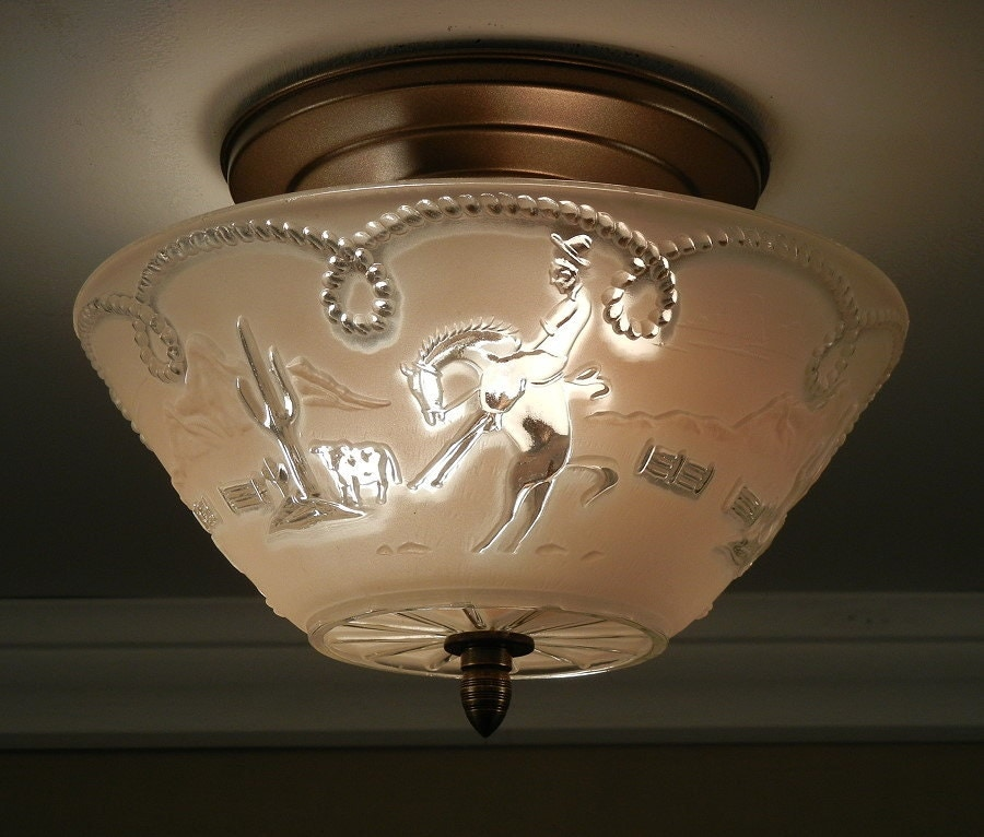 Ceiling Lights Western Sydney: Vintage 1940's OLD WEST Theme Western Cowboy By