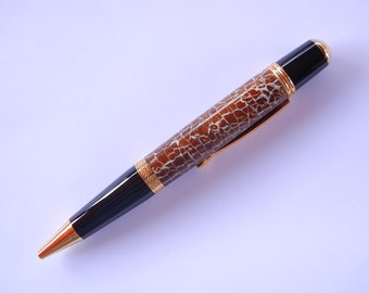 Sierra Pen - Coconut Shell with Black and Gold Titanium