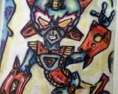 rad  oil pastel drawing
