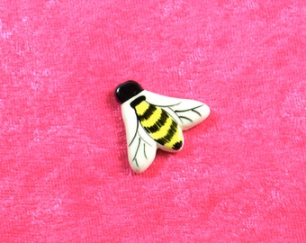 Handpainted Ceramic Bumble Bee Pin