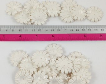 100 White Small Daisy Die Cut y Paper Flowers Scrapbook Wedding Card Making Crafts Supply No15/70