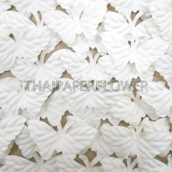 50 white small paper butterflies die cut scrapbook card making for White paper butterflies