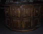 Original Hand Made Southwest Spanish Style Rustic Bar in Golden Oak Finish.